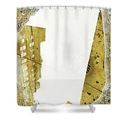Aqua Metallic Series Together Apart Shower Curtain