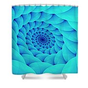 Aqua Pillow Vortex Shower Curtain