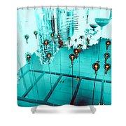 Aqua Reflections Shower Curtain