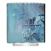 Aqua Resort Shower Curtain