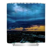 Aqua Skies Shower Curtain