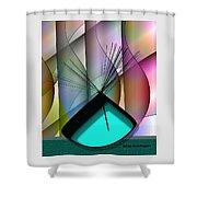 Aqua Vase Shower Curtain