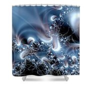 Aquafractal Shower Curtain