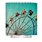 Aquamarine Dream - Ferris Wheel Art Shower Curtain