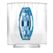 Aquamarine Facet Shower Curtain