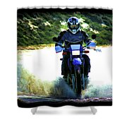 Aquaplaning Shower Curtain