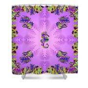 Aquarium Rising Lavender Shower Curtain