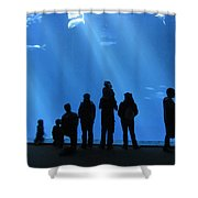 Aquarium Silhouettes Shower Curtain