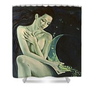 Aquarius From  Zodiac Signs Series Shower Curtain