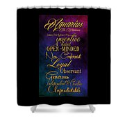 Aquarius Shower Curtain by Mamie Thornbrue