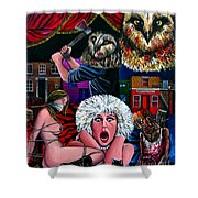 Aquarius Stage Fright Shower Curtain