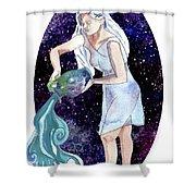 Aquarius Water Bearer Shower Curtain