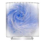Aqueous Bloom 3 Shower Curtain