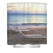 Aruba Beach Sunset Shower Curtain