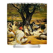 Arab Chieftains In Council  Shower Curtain
