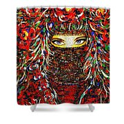 Arabian Eyes Shower Curtain