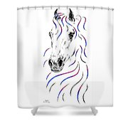 Arabian Horse Style Shower Curtain
