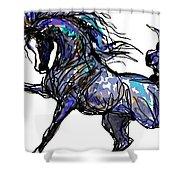 Arabian In Blue Shower Curtain