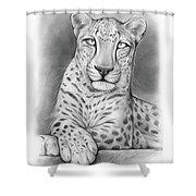 Arabian Leopard Shower Curtain