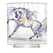 Arabian Stallion Talk Shower Curtain