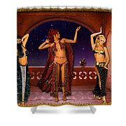 Arabic Dancers Shower Curtain