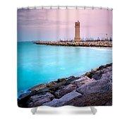Arabic Harbour Shower Curtain