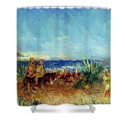 Arabs By The Sea Shower Curtain