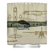 Arado Ar234b-2 - Profile Art Shower Curtain