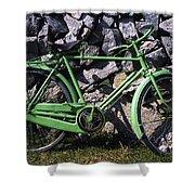 Aran Islands, Co Galway, Ireland Bicycle Shower Curtain
