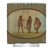 Arapaho Chief, His Wife, And A Warrior Shower Curtain