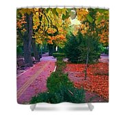 Arboles Azules Shower Curtain