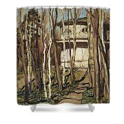 Arbour On The Mound Former Naydenovsky Park Moscow 1920 Apollinaris M Vasnetsov Shower Curtain