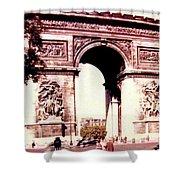 Arc De Triomphe 1955 Shower Curtain