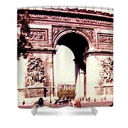 Arc De Triomphe 1955 Shower Curtain