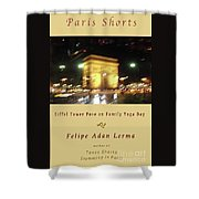 Arc De Triomphe By Bus Tour Cover Art Shower Curtain
