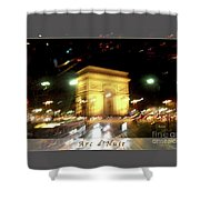 Arc De Triomphe By Bus Tour Greeting Card Poster V2 Shower Curtain