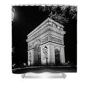 Arc De Triomphe Paris, France  Shower Curtain
