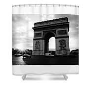 Arc De Triomphe Sunset Paris, France Shower Curtain