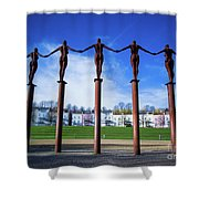 Arc Of Angels Portishead Shower Curtain
