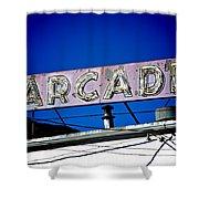 Arcade Vintage Sign Shower Curtain
