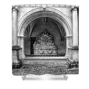 Arch At Fontevraud Abbey Bw Shower Curtain