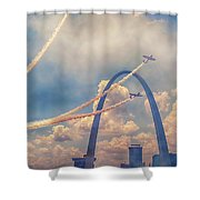 Arch Flight Shower Curtain by Susan Rissi Tregoning