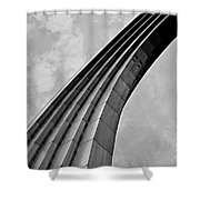 Arch In Black And White Shower Curtain
