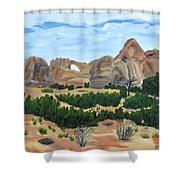Arch In Landscape Shower Curtain
