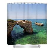 Arch Of Albandeira Beach Shower Curtain