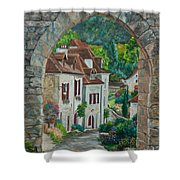 Arch Of Saint-cirq-lapopie Shower Curtain