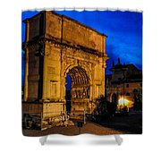 Arch Of Titus In Rome Shower Curtain