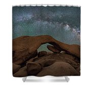 Arch Rock Milky Way  Shower Curtain