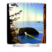 Arch Rock Reflection Shower Curtain