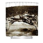 Arch Rock, Santa Cruz, California Circa 1900 Shower Curtain